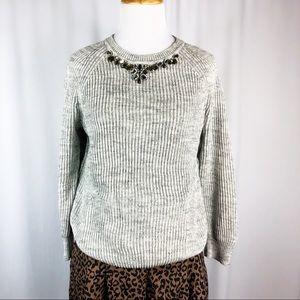 Loft Jewel Neck Sweater